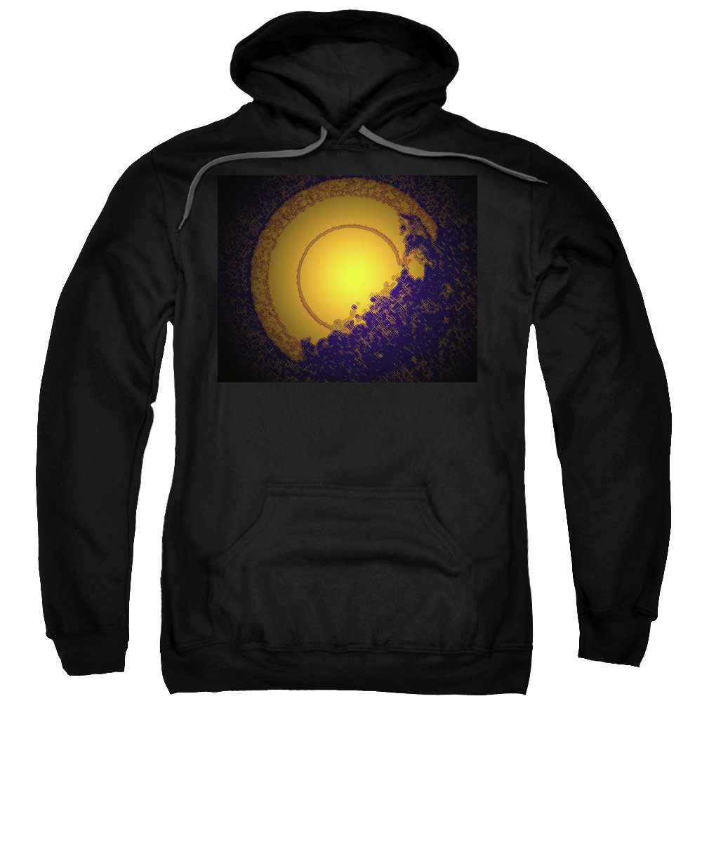 Abstract Sweatshirt featuring the digital art Sun On The Edge Of Night by Lenore Senior
