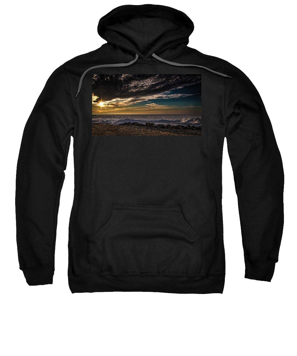 Beach Sweatshirt featuring the photograph Sun Peeks Through by Onyonet Photo Studios