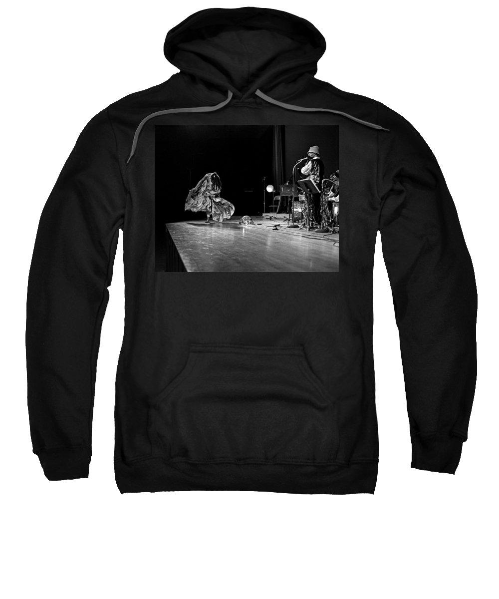 Jazz Sweatshirt featuring the photograph Sun Ra Arkestra At Freeborn Hall by Lee Santa