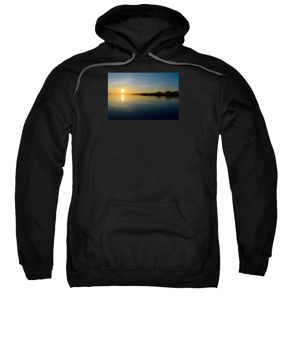 Abstract Sweatshirt featuring the photograph Sun Reflections by Lyle Crump