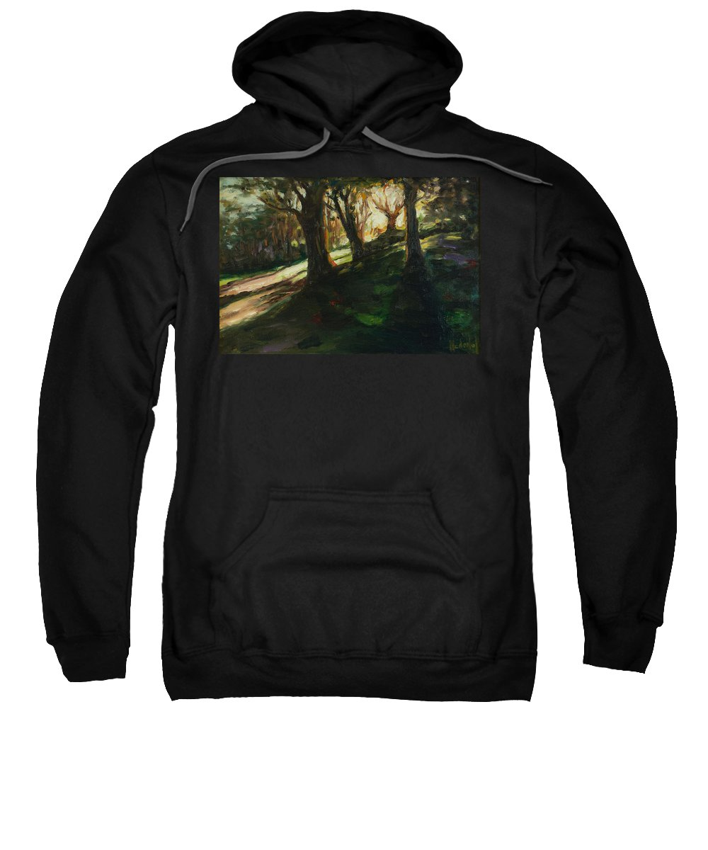 Trees Sweatshirt featuring the painting Sun by Rick Nederlof