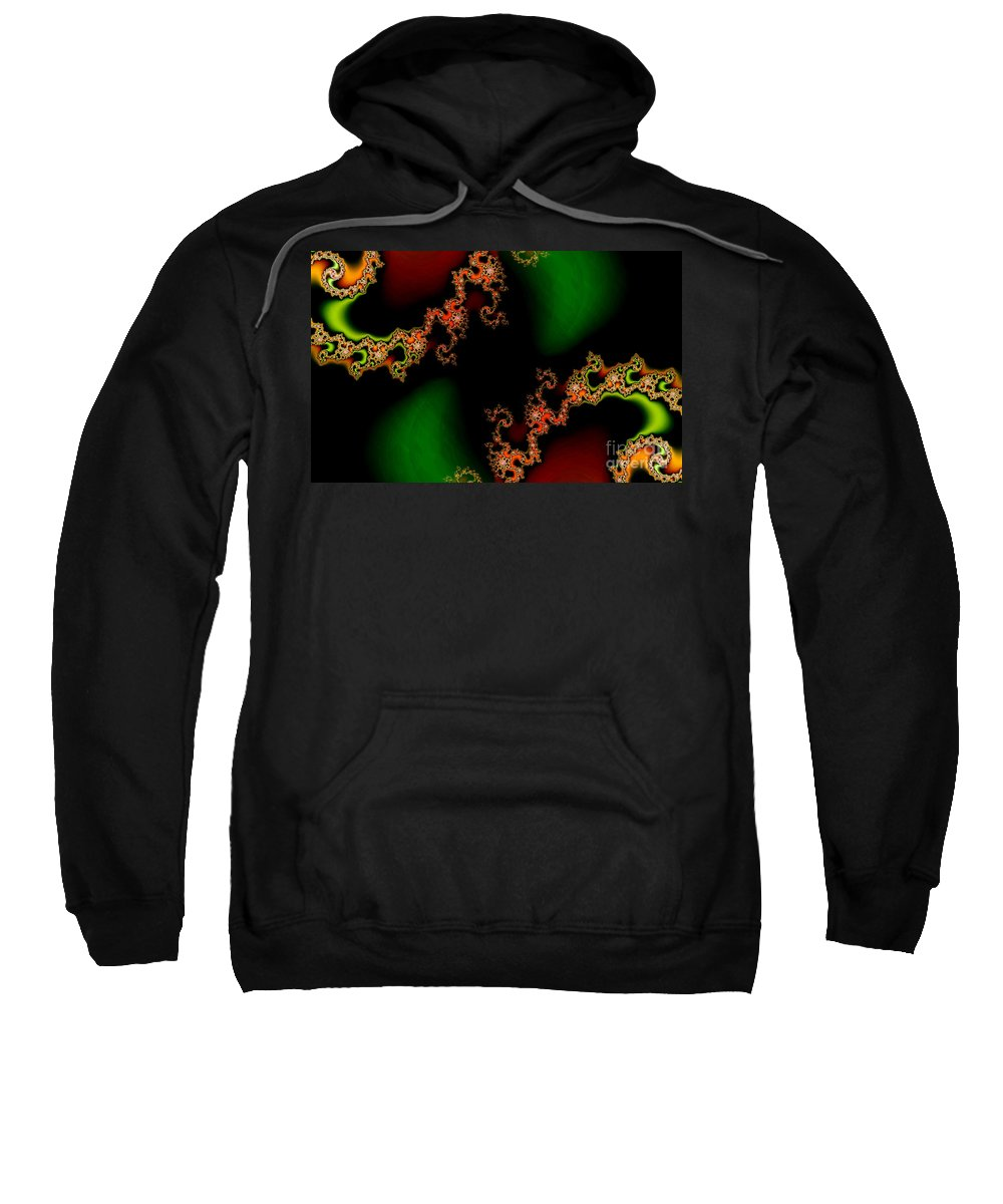 Clay Sweatshirt featuring the digital art Sun Spots by Clayton Bruster