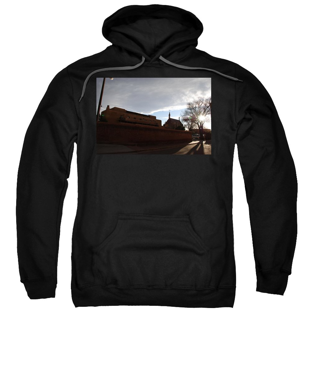 New Mexico Sweatshirt featuring the photograph Sun Thru The Trees by Rob Hans
