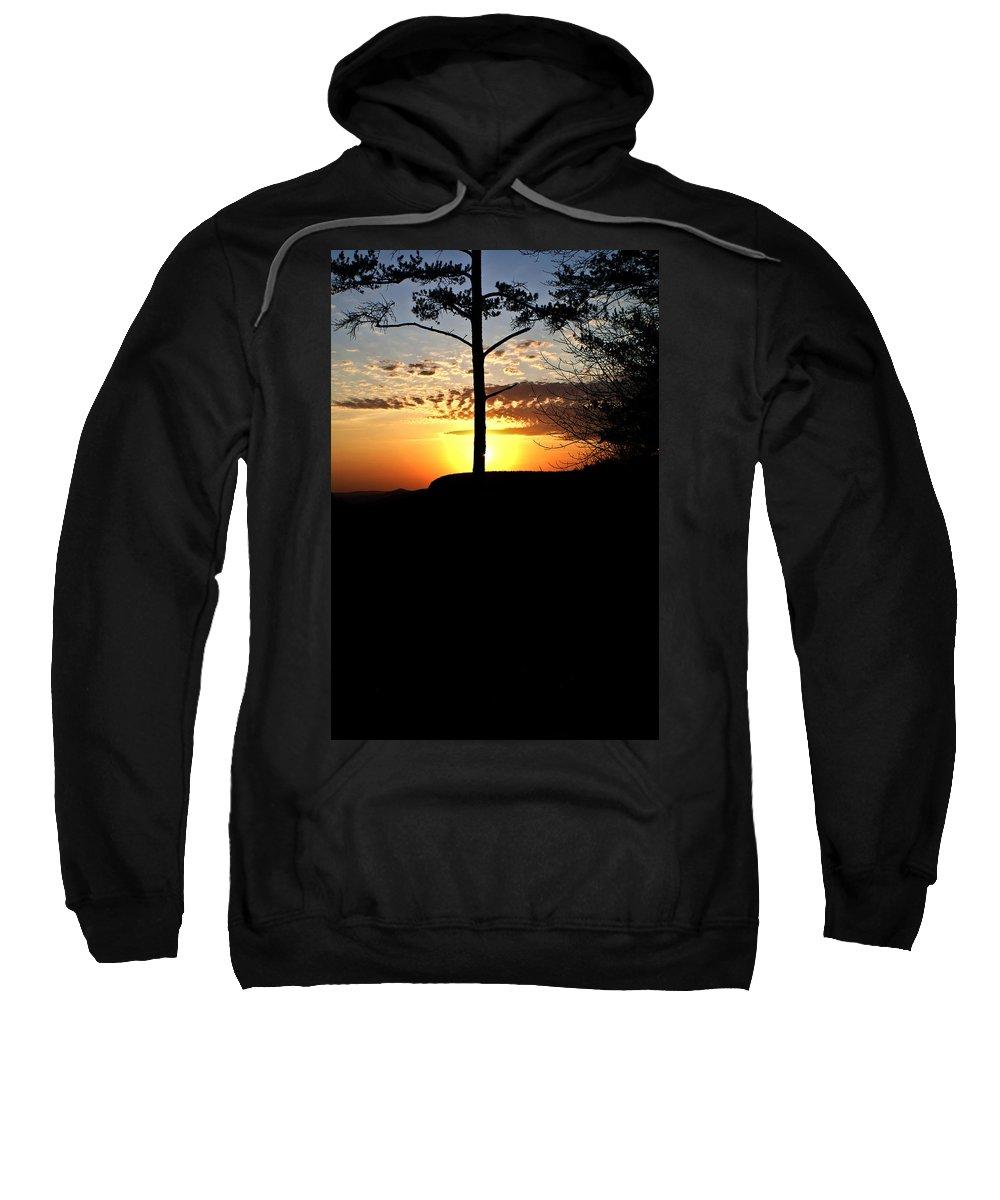 Sunburst Sweatshirt featuring the photograph Sunburst Sunset by Douglas Barnett