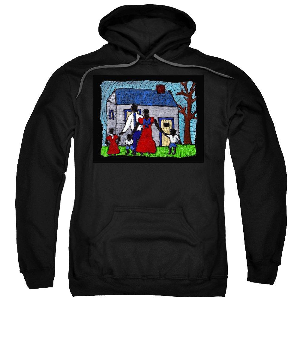Family Sweatshirt featuring the painting Sunday Morning Finest by Wayne Potrafka