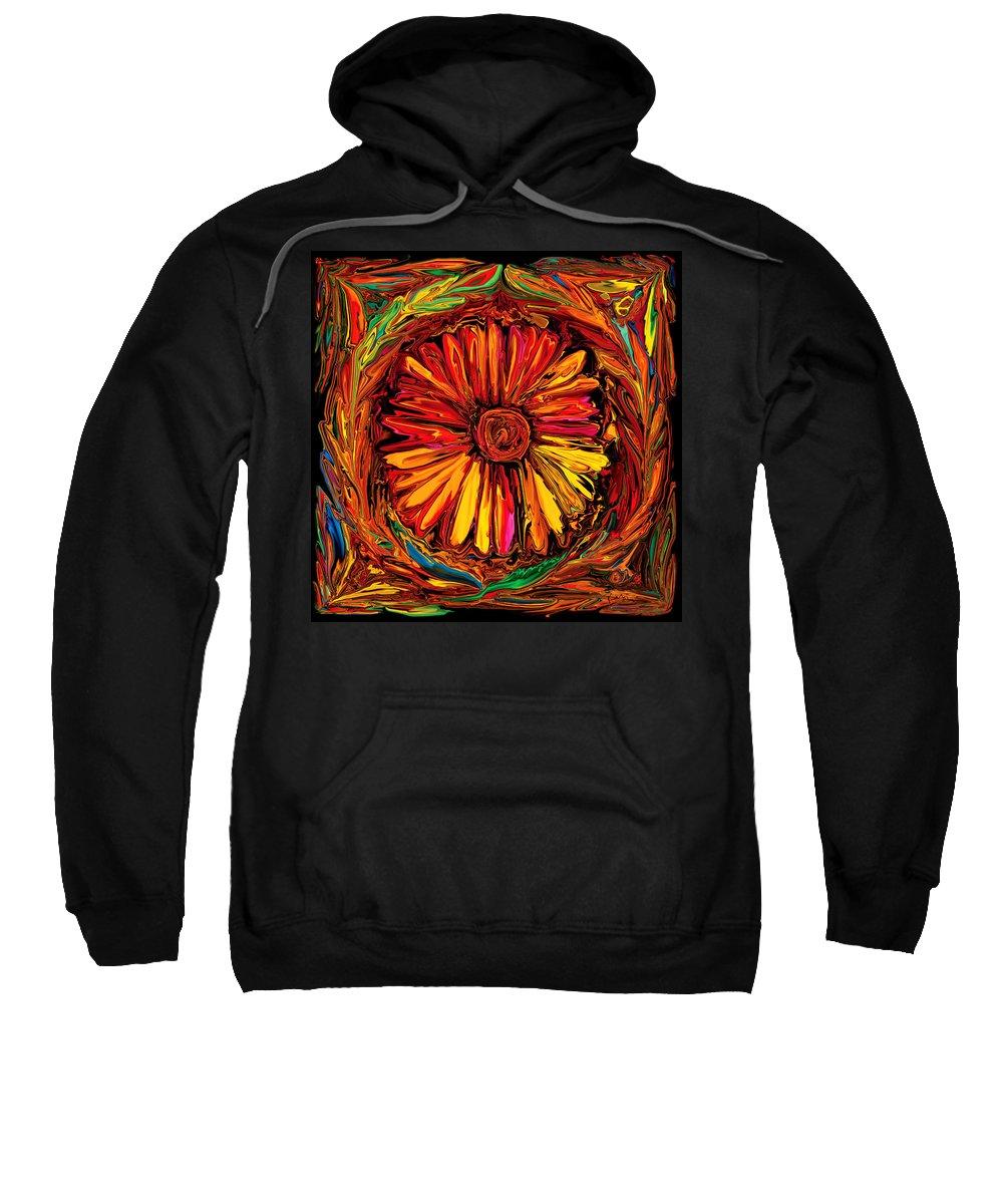 Art Sweatshirt featuring the digital art Sunflower Emblem by Rabi Khan