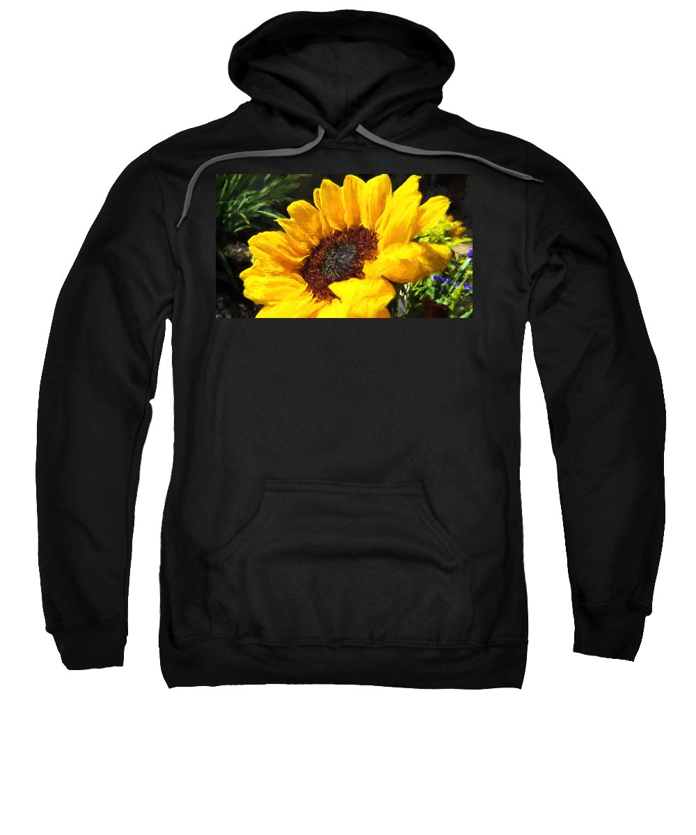 Sunflower Sweatshirt featuring the photograph Sunflower Impression by JG Thompson
