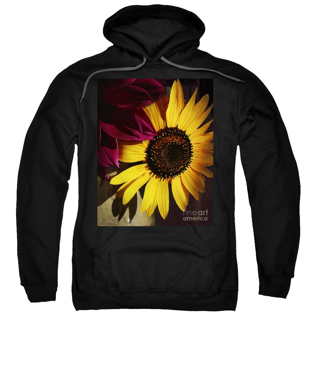 Flower Sweatshirt featuring the photograph Sunflower With Dahlia by Ed A Gage