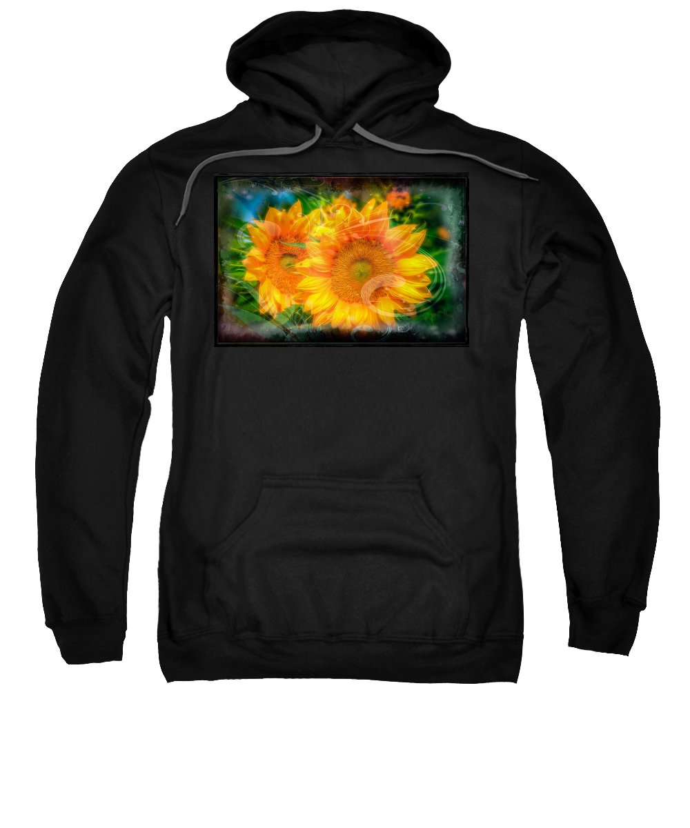 Flower Sweatshirt featuring the photograph Sunflowers by Larry White