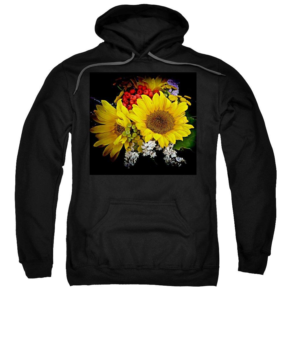 Sunflower Sweatshirt featuring the photograph Sunflowers by Lori Seaman