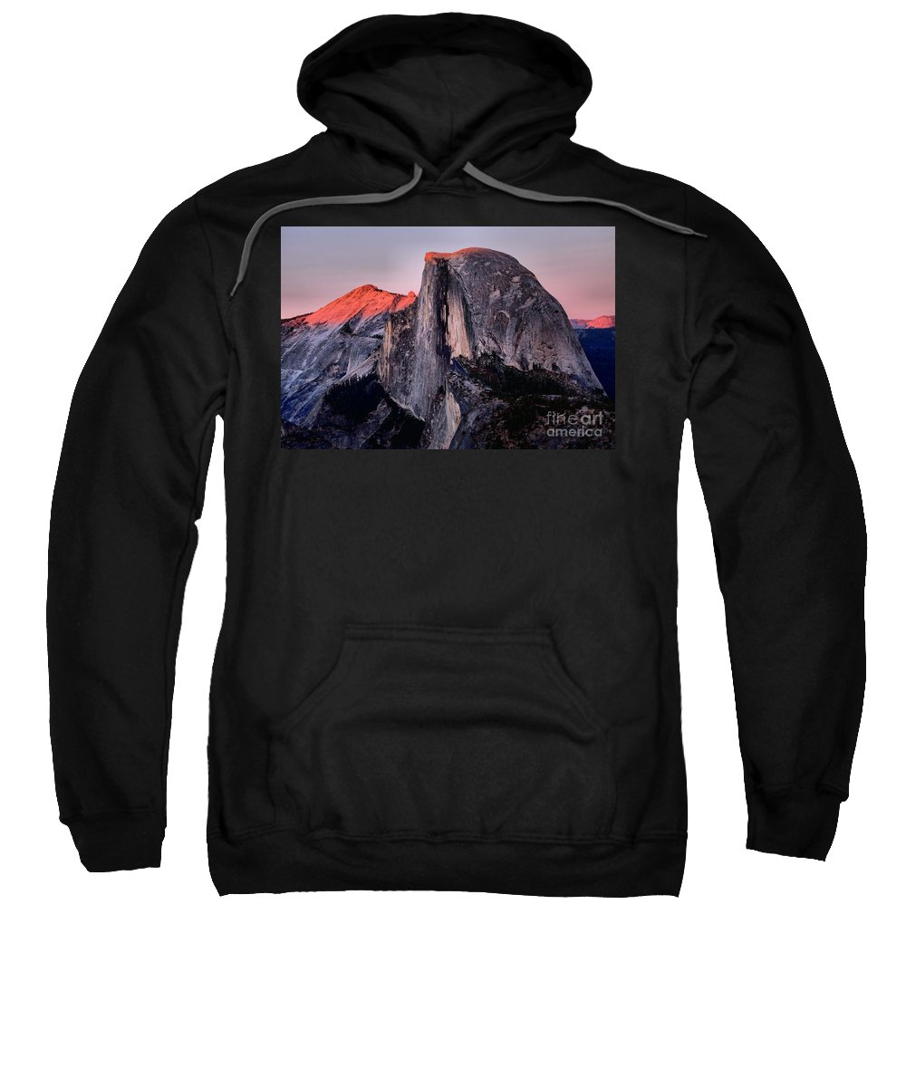 Half Dome Sweatshirt featuring the photograph Sunkiss On Half Dome by Adam Jewell