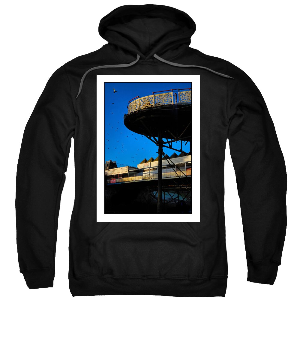 Pier Sweatshirt featuring the photograph Sunlit Pier by Mal Bray