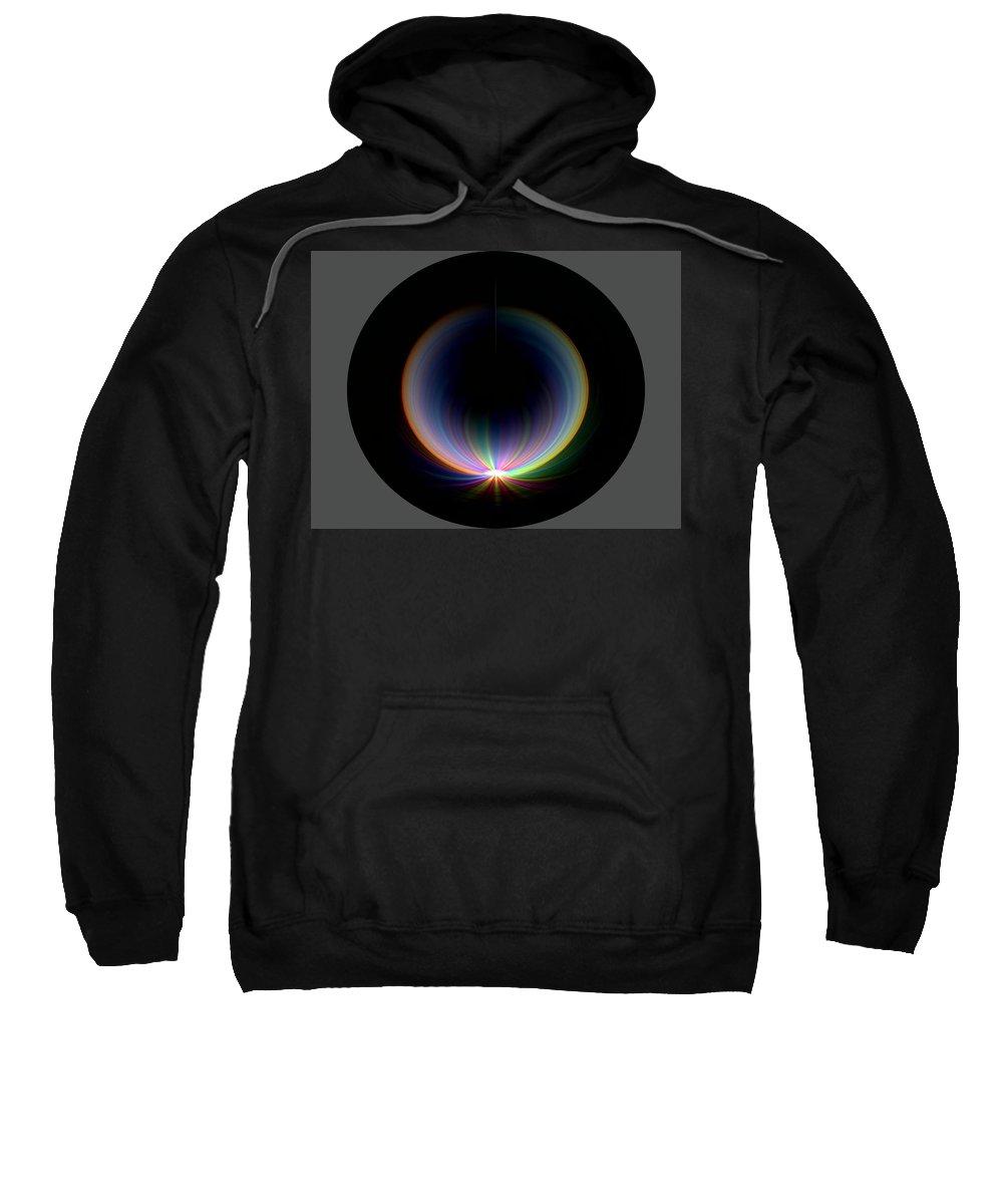Sunrise Sweatshirt featuring the digital art Sunrise At 30k 1 by Tim Allen