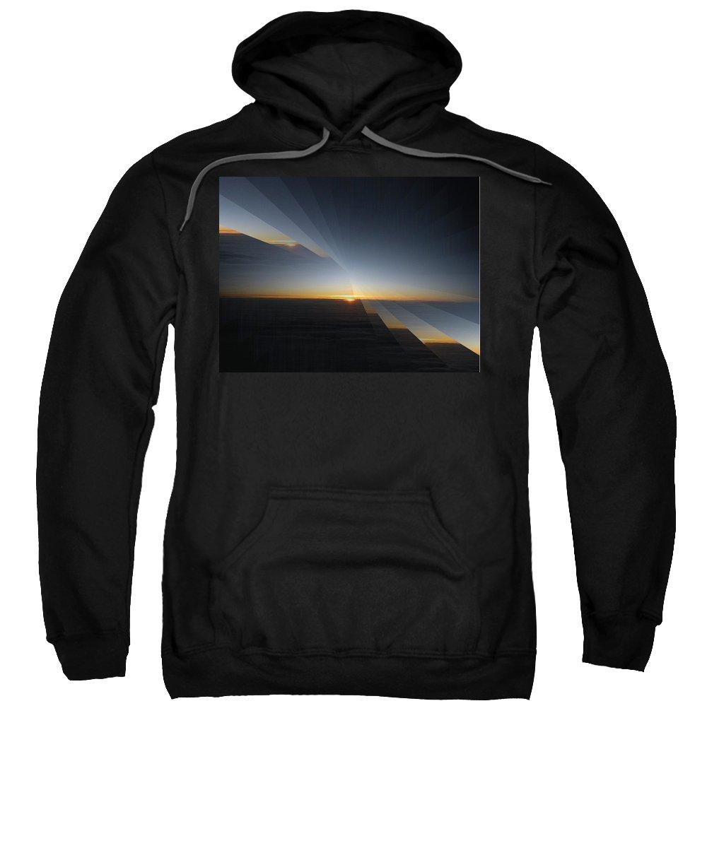 Sunrise Sweatshirt featuring the photograph Sunrise At 30k 4 by Tim Allen