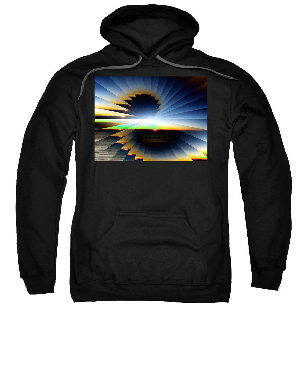 Sunrise Sweatshirt featuring the photograph Sunrise At 30k 6 by Tim Allen