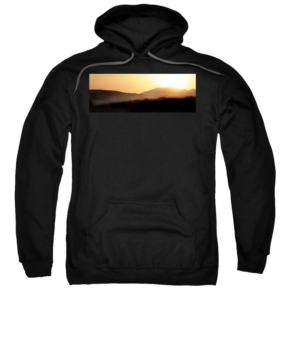 Landscape Sweatshirt featuring the photograph Sunrise At Pastelero Near Villanueva De La Concepcion Malaga Region Spain by Mal Bray