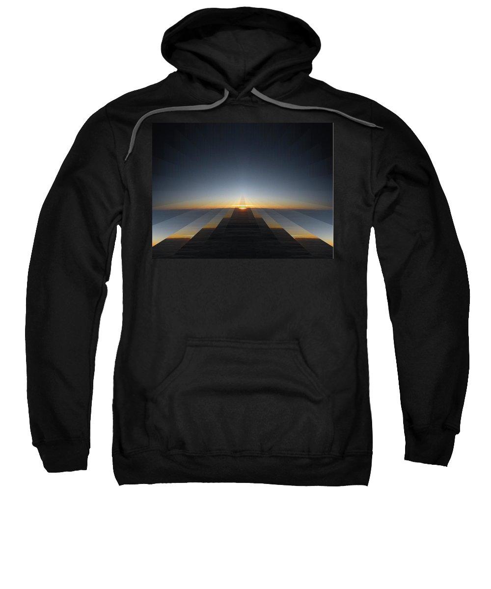 Sunrise Sweatshirt featuring the digital art Sunrise From 30k 3 by Tim Allen