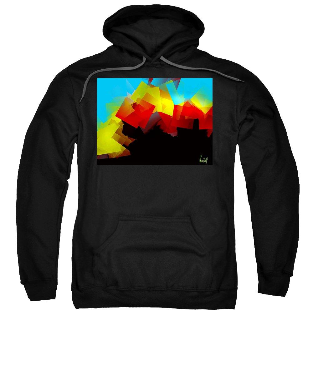 Sunrise Sweatshirt featuring the digital art Sunrise by Helmut Rottler