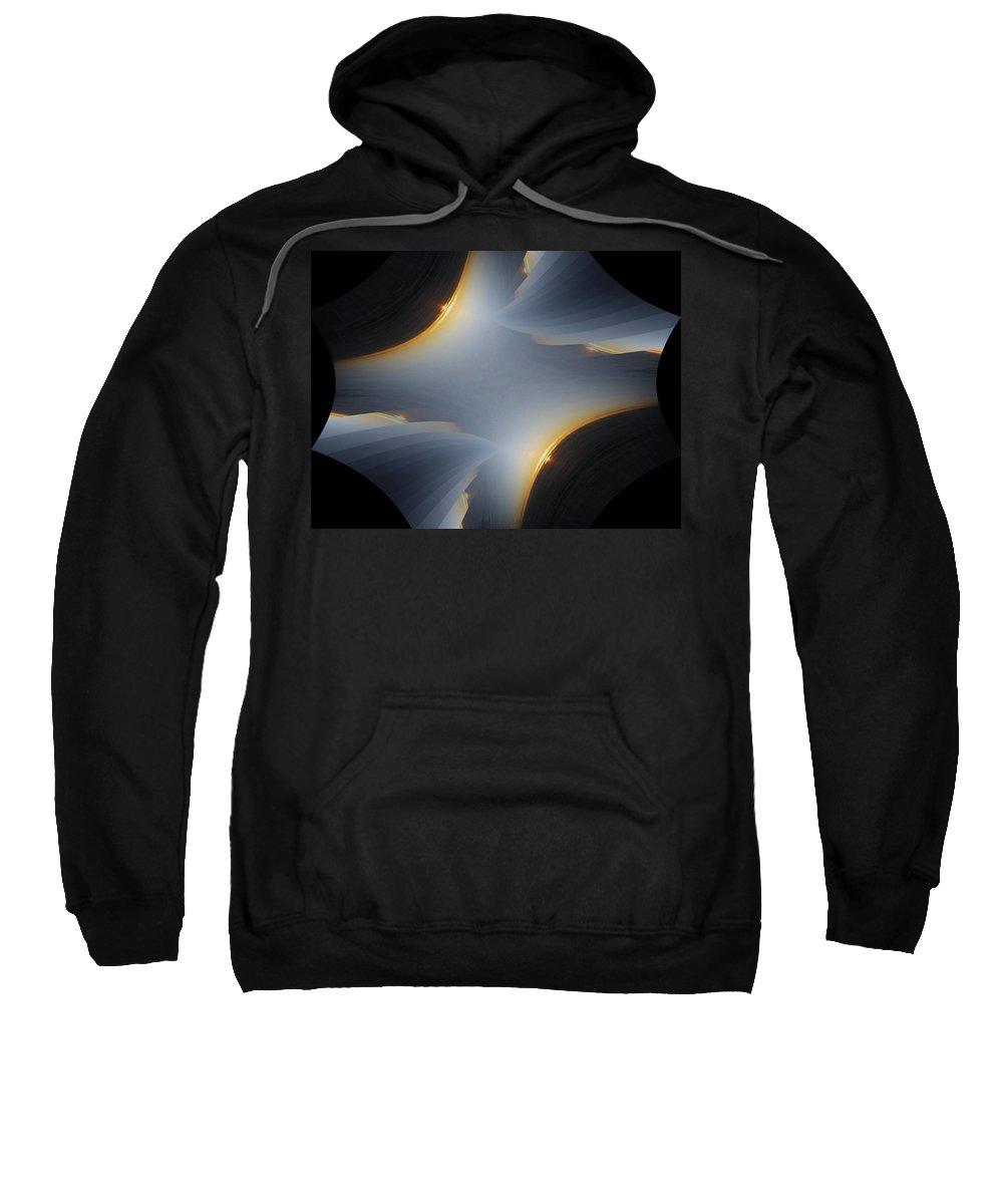 Sunrise Sweatshirt featuring the digital art Sunrise In Fractal by Tim Allen