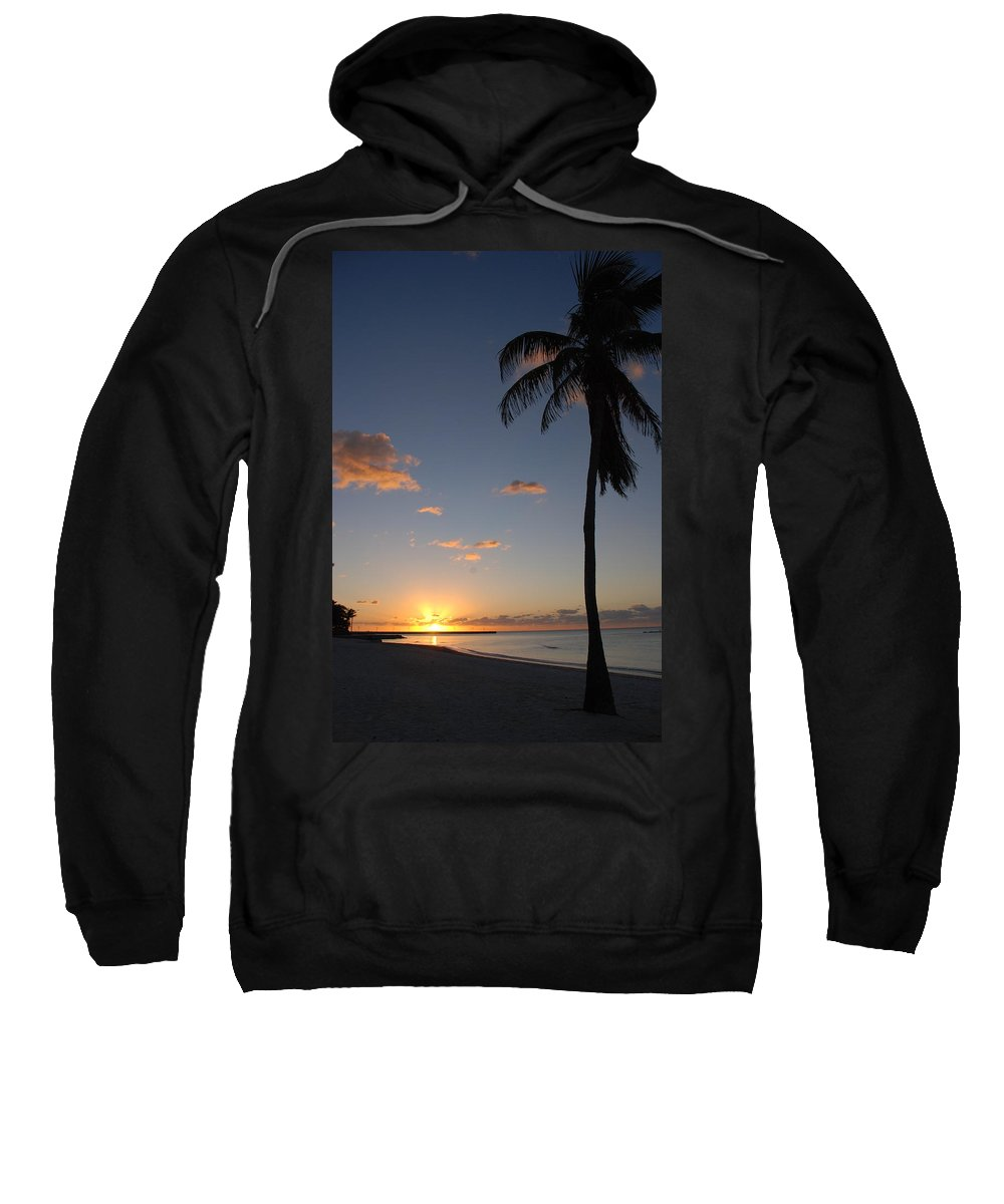 Sunrise Photos Sweatshirt featuring the photograph Sunrise In Key West 2 by Susanne Van Hulst