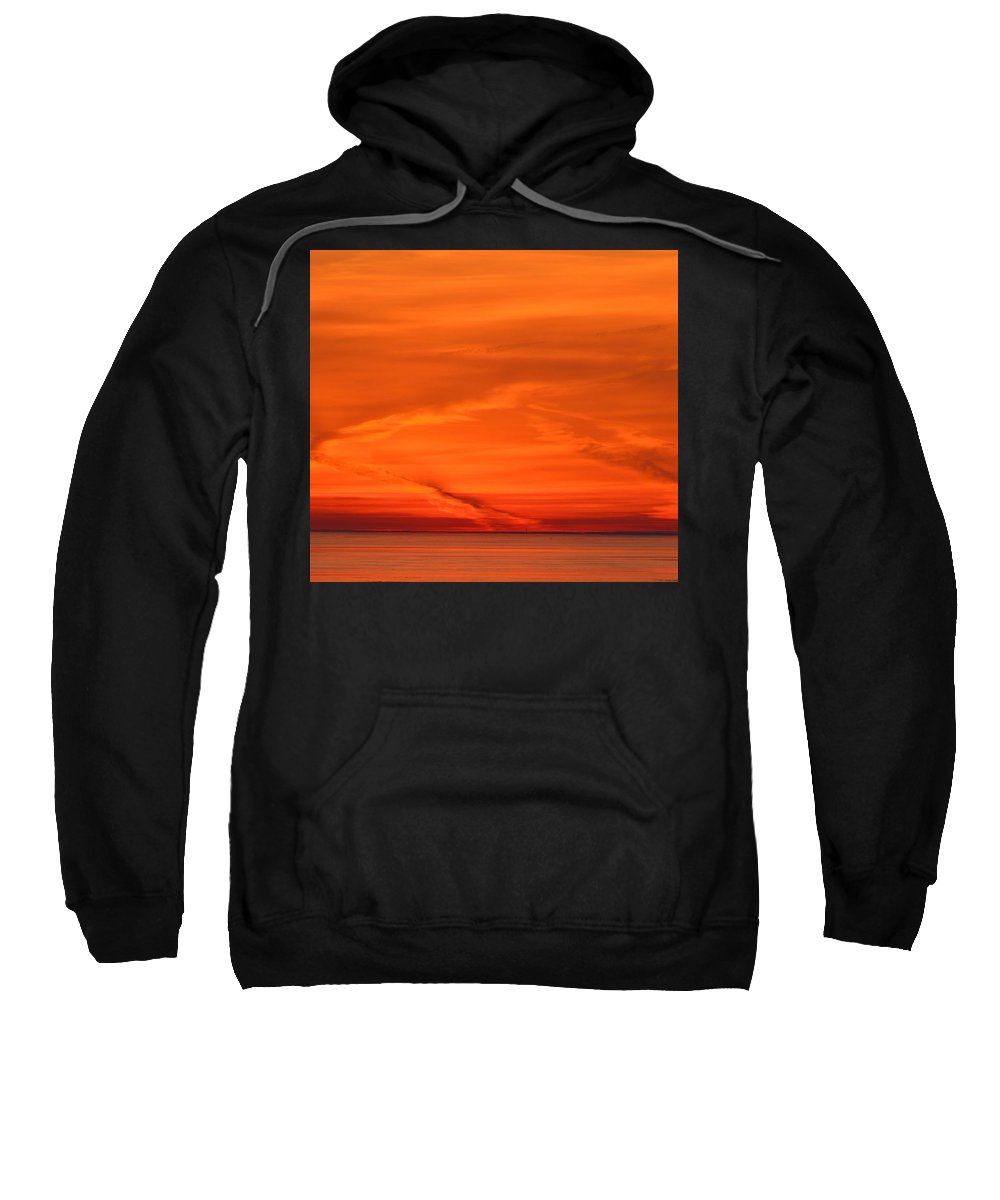 Abstract Sweatshirt featuring the photograph Sunrise Layers by Lyle Crump