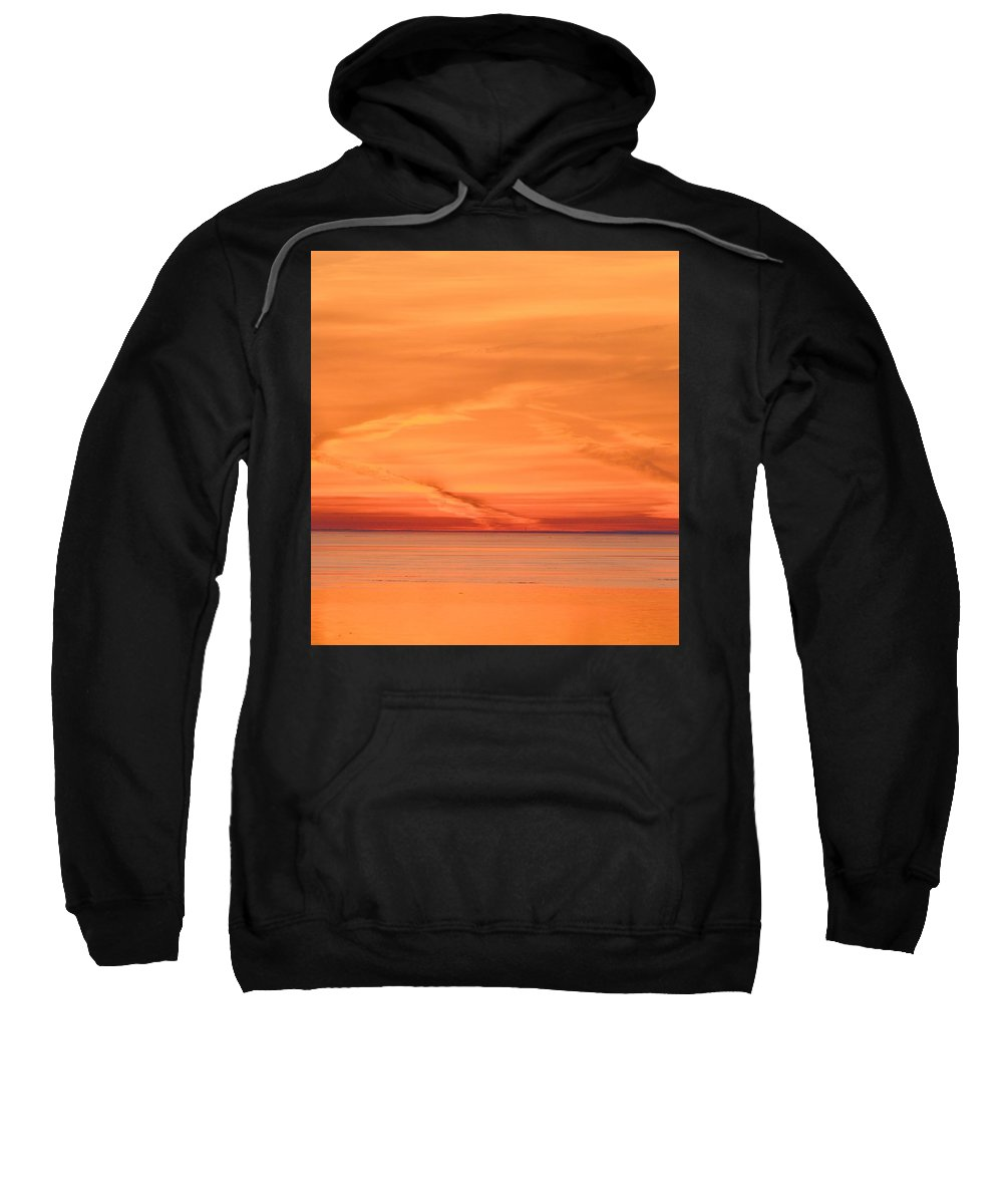 Abstract Sweatshirt featuring the photograph Sunrise Layers Two by Lyle Crump
