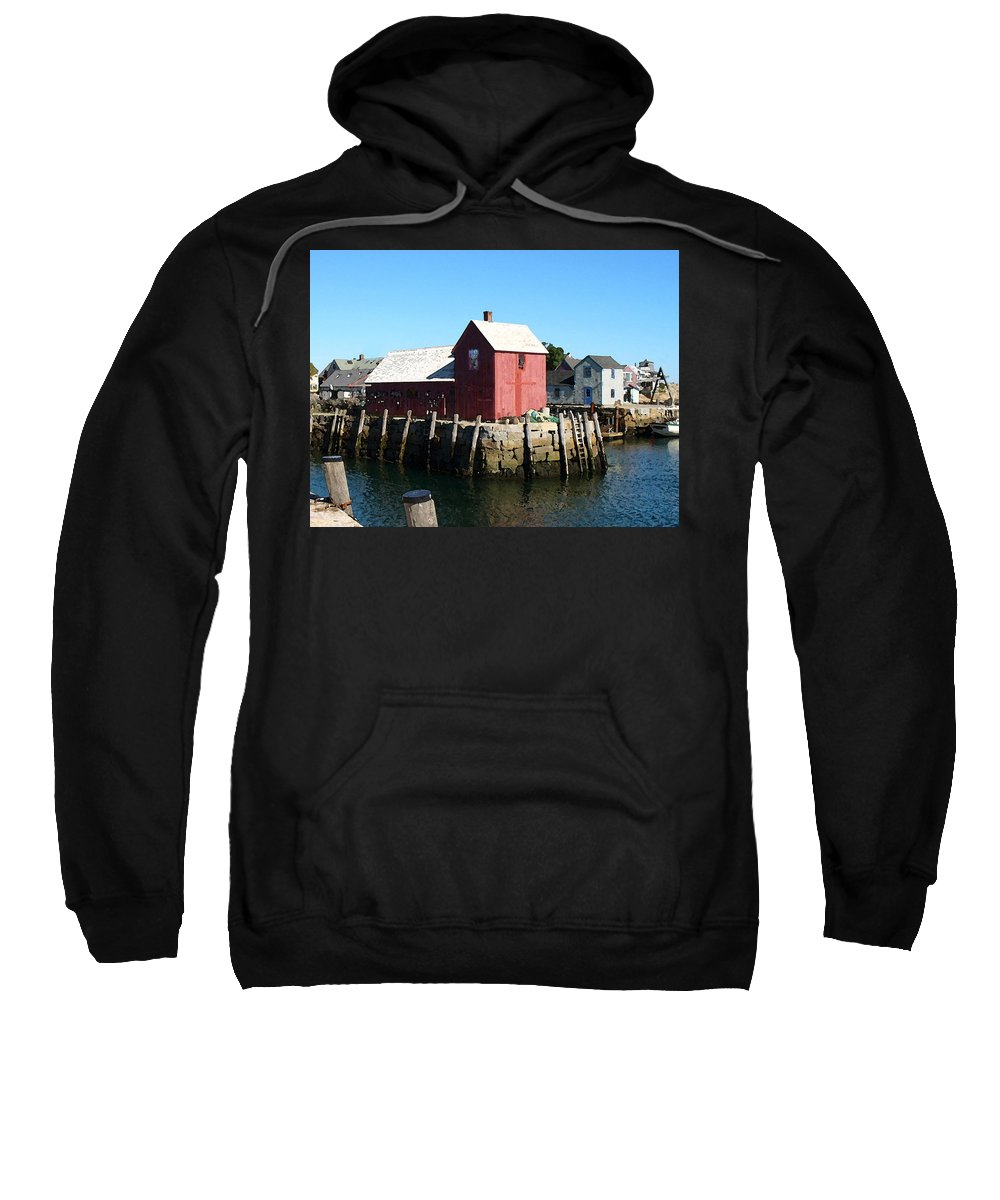 Water Sweatshirt featuring the painting Sunrise On The Pier by Paul Sachtleben