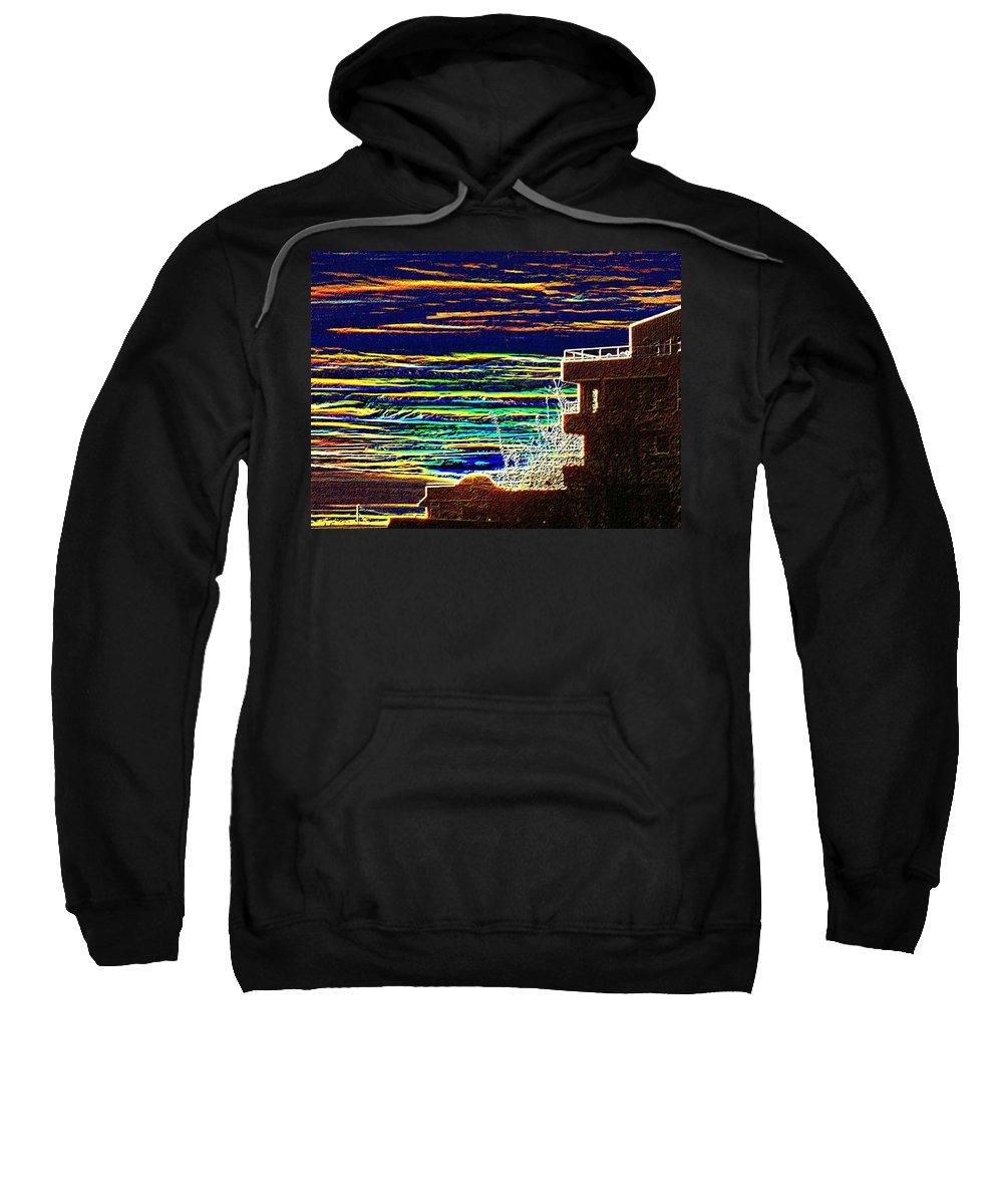 Seattle Sweatshirt featuring the digital art Sunset 1 by Tim Allen