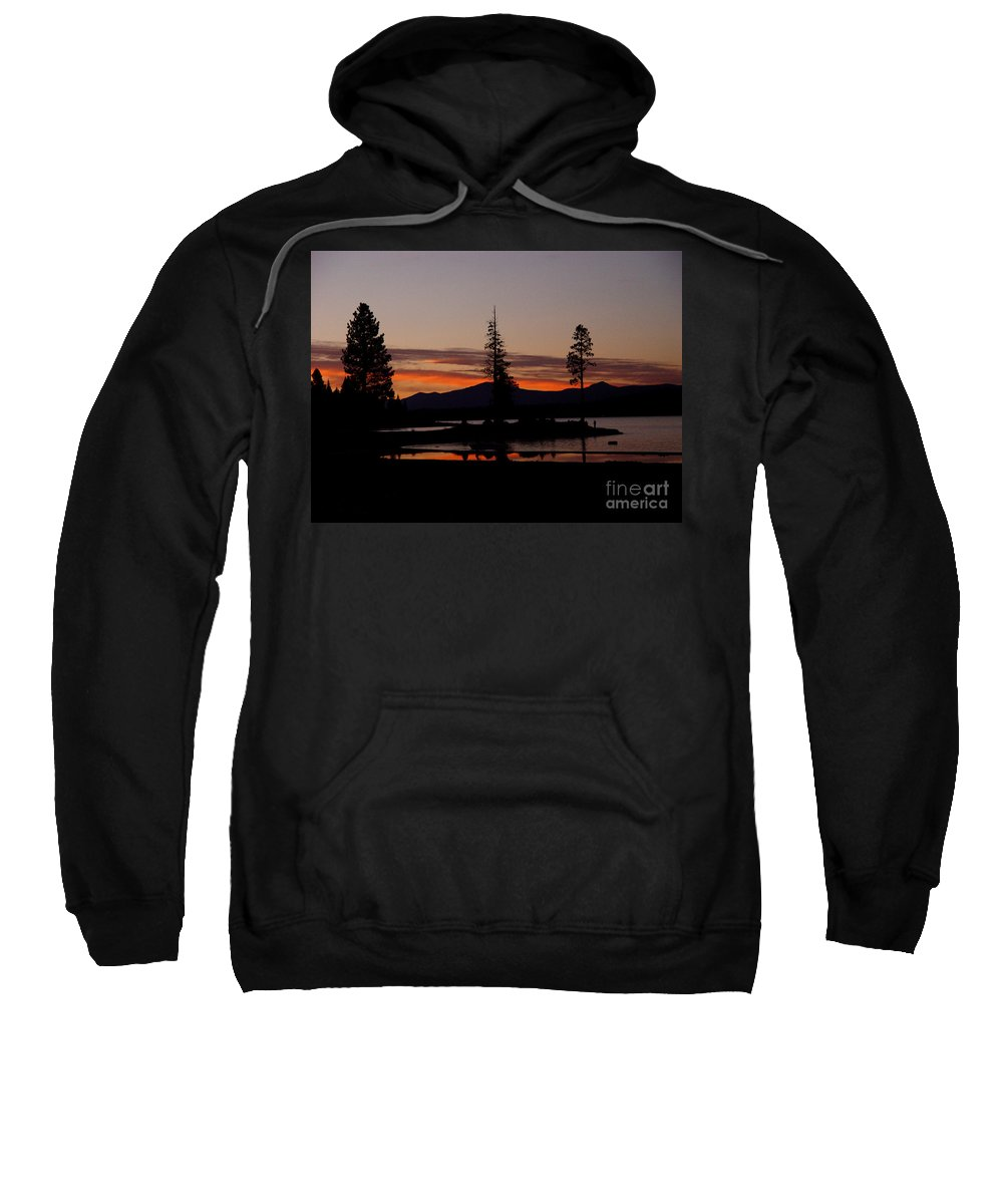 Lake Almanor Sweatshirt featuring the photograph Sunset At Lake Almanor 02 by Peter Piatt