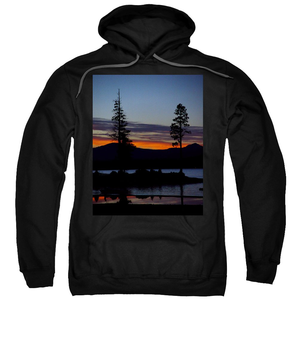 Lake Almanor Sweatshirt featuring the photograph Sunset At Lake Almanor by Peter Piatt