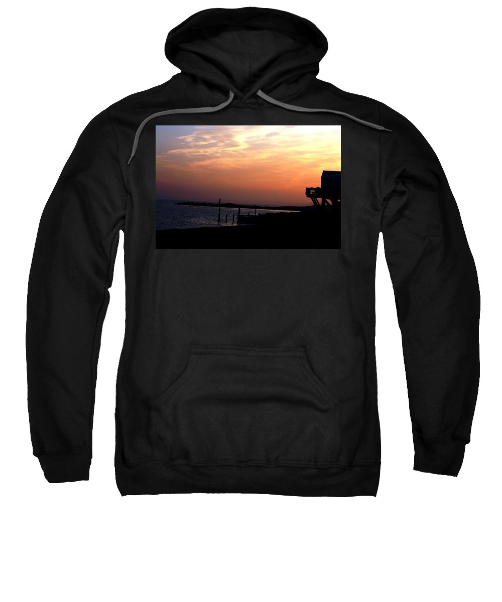 Sunset Sweatshirt featuring the photograph Sunset At Lordship Beach by Donna Walsh