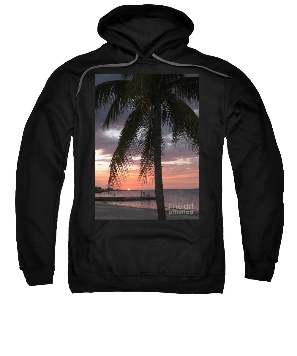 Sunset Sweatshirt featuring the painting Sunset At Montego Bay by John Malone