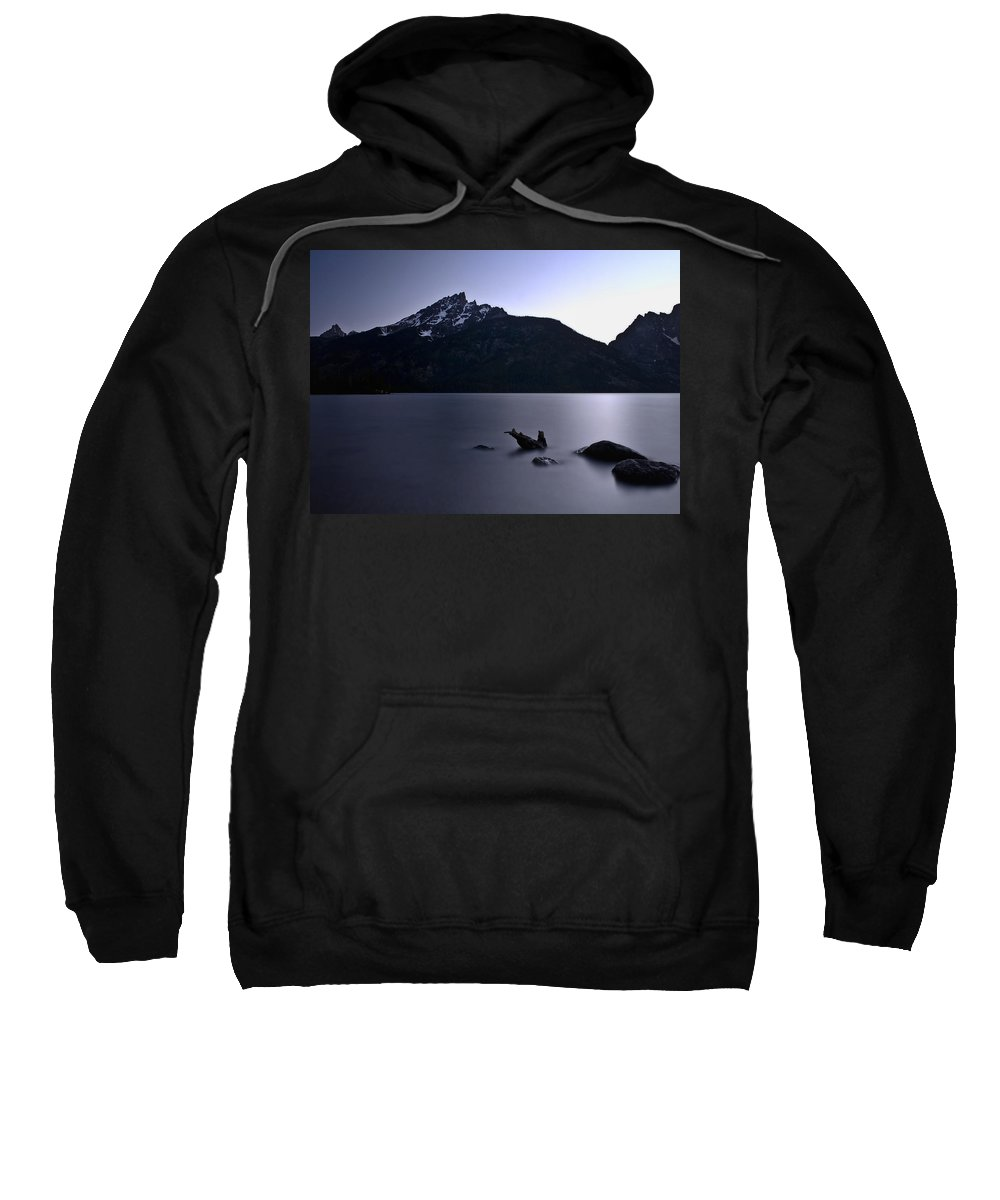 Nature Sweatshirt featuring the photograph Sunset At The Lake by John K Sampson