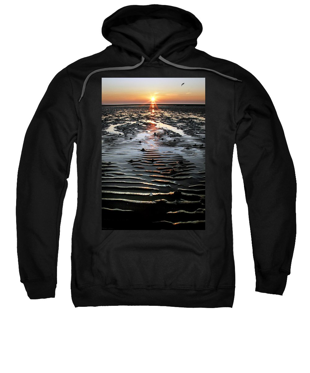 Sunset Sweatshirt featuring the photograph Sunset At The West Shore Llandudno by Mal Bray