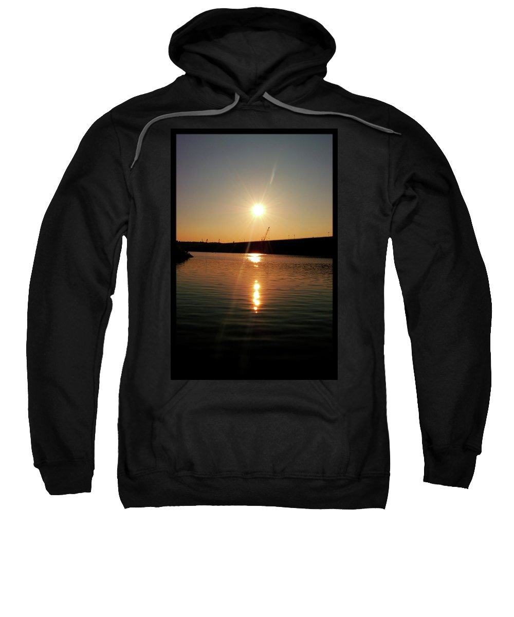 Lake Sweatshirt featuring the photograph Sunset At Wolf Creek Dam by Amber Flowers