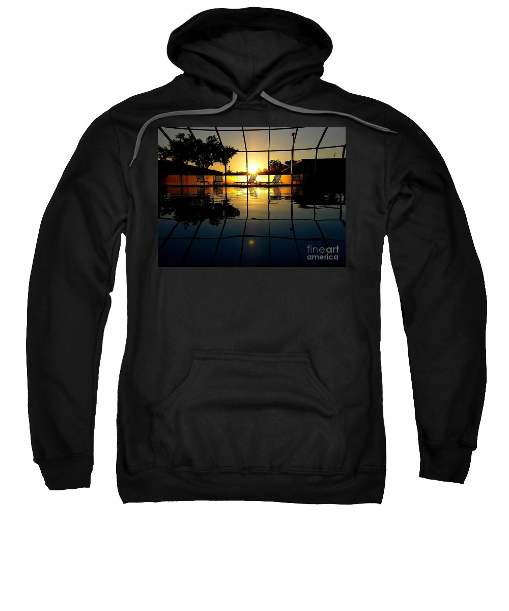 Sunset Sweatshirt featuring the photograph Sunset By The Pool by Robert Meanor