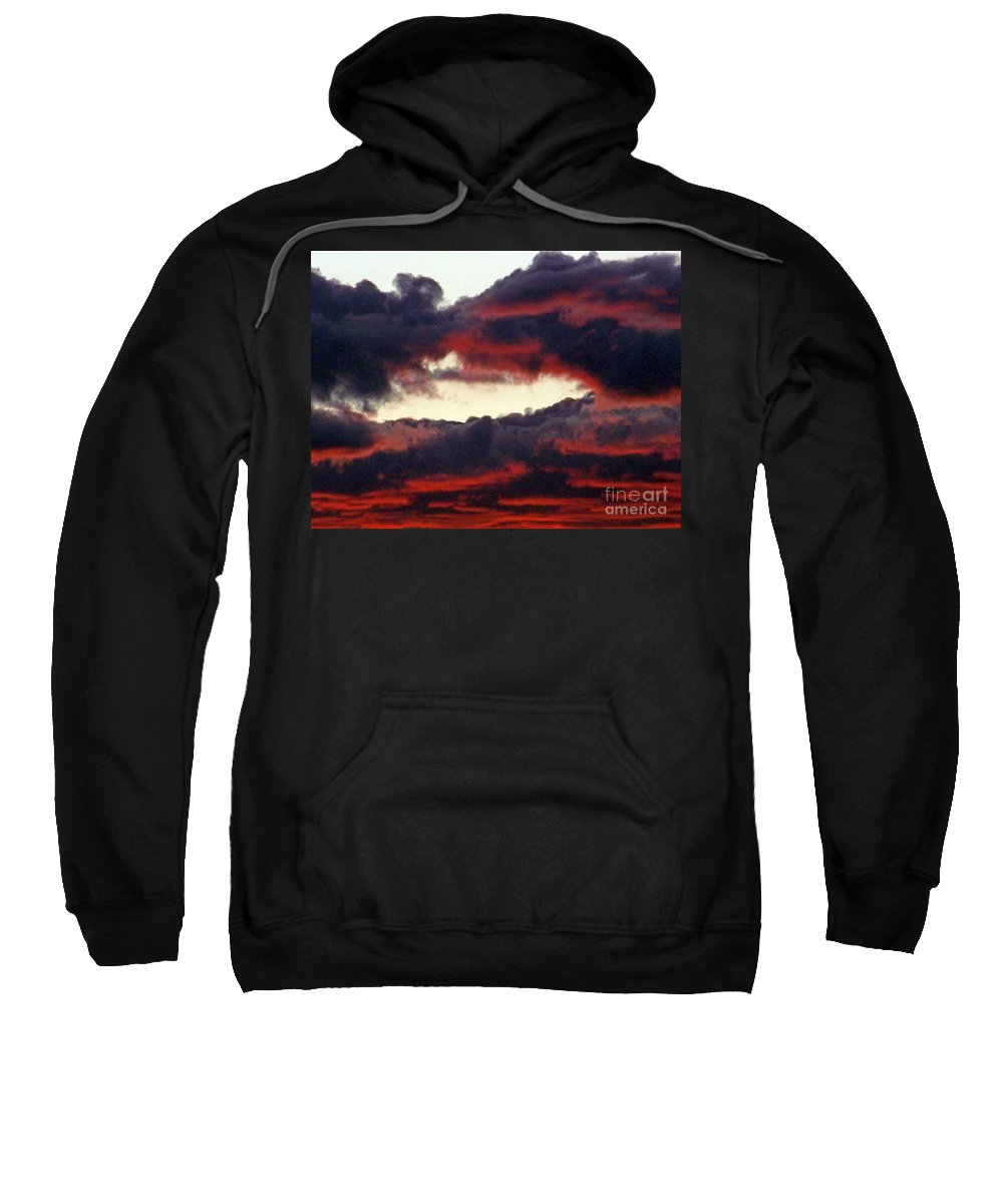 Sunset Sweatshirt featuring the photograph Sunset Formation by Brian Commerford