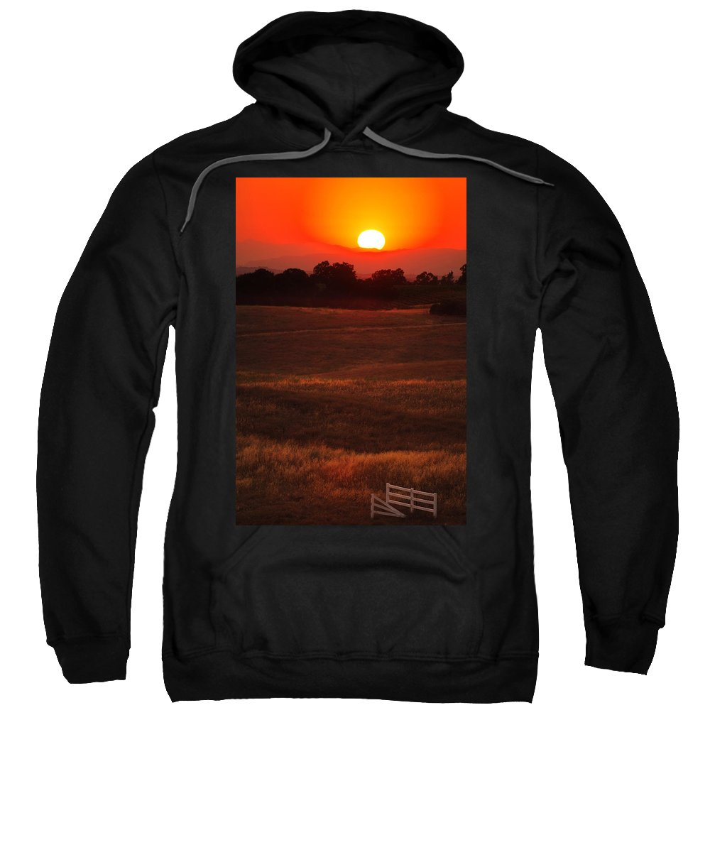 Sunset Sweatshirt featuring the photograph Sunset Gate by Jill Reger
