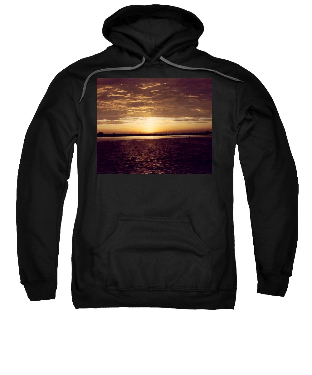 Sunset Sweatshirt featuring the photograph Sunset In Fl by Charleen Treasures