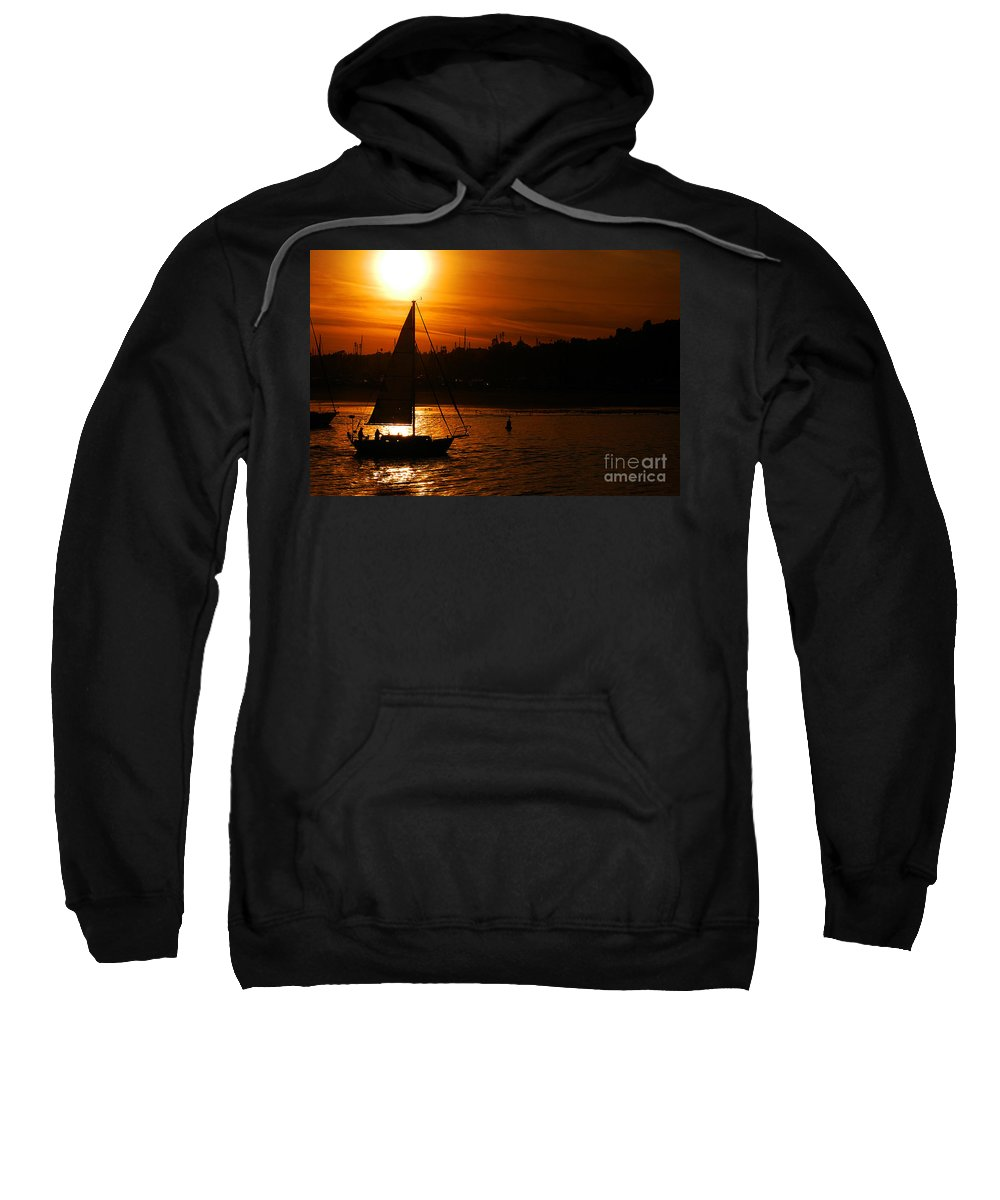 Clay Sweatshirt featuring the photograph Sunset In Southern California by Clayton Bruster
