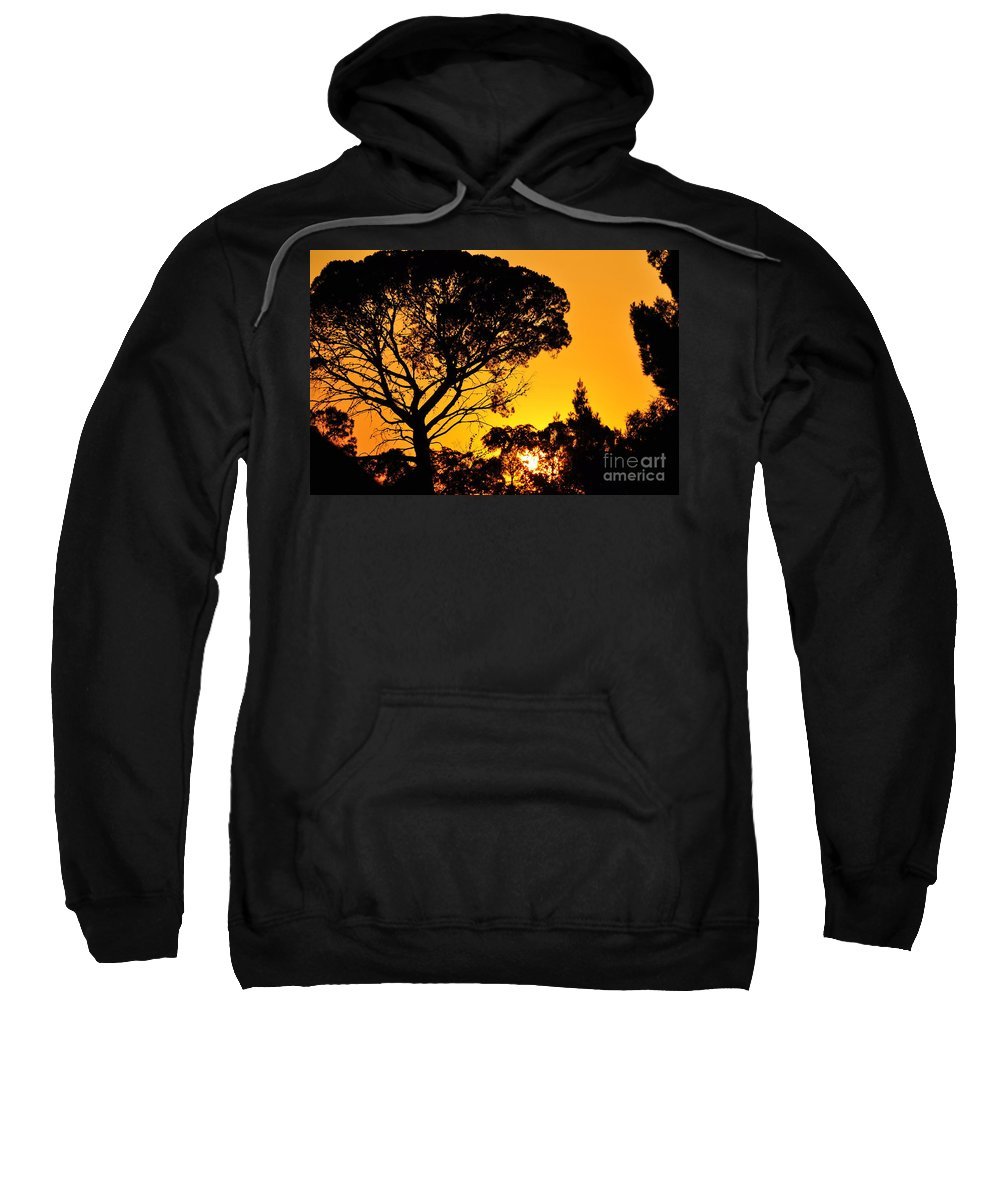 Clay Sweatshirt featuring the photograph Sunset In Tujunga by Clayton Bruster
