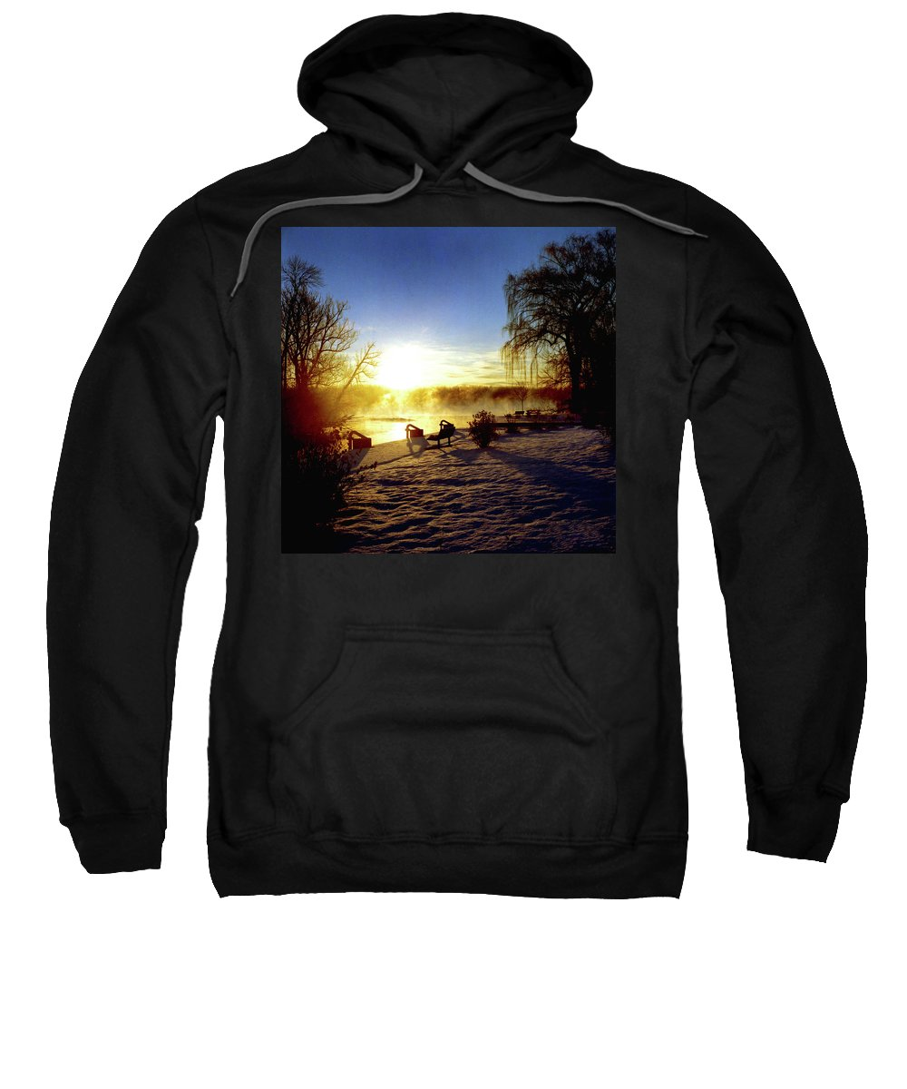 Morning Sweatshirt featuring the photograph Sunset In Winter by Joshua Macneil