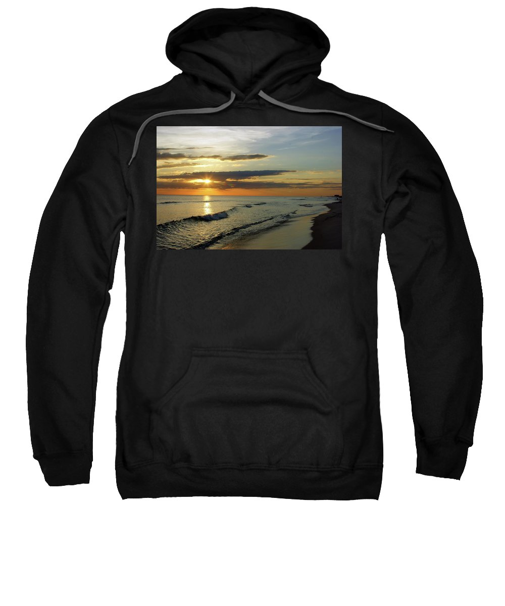 Landscape Sweatshirt featuring the painting Sunset by Janette Legg