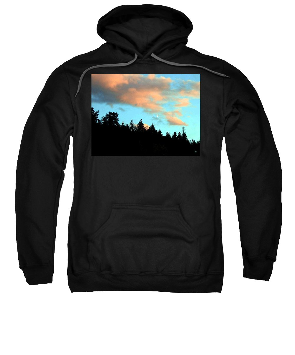 Sunset Sweatshirt featuring the photograph Sunset Moon by Will Borden