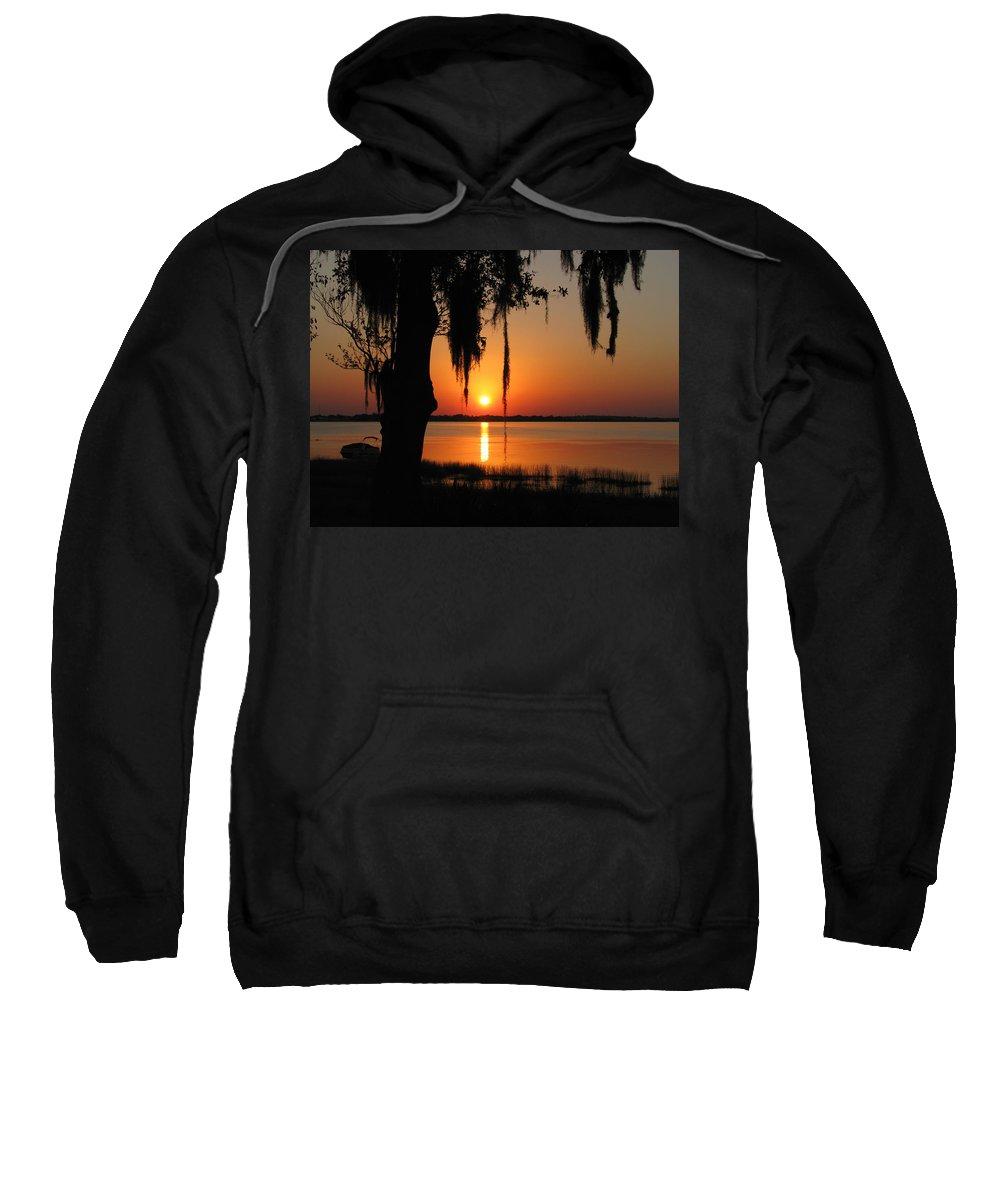 Nature Sweatshirt featuring the photograph Sunset On Lake Minneola by Peg Urban