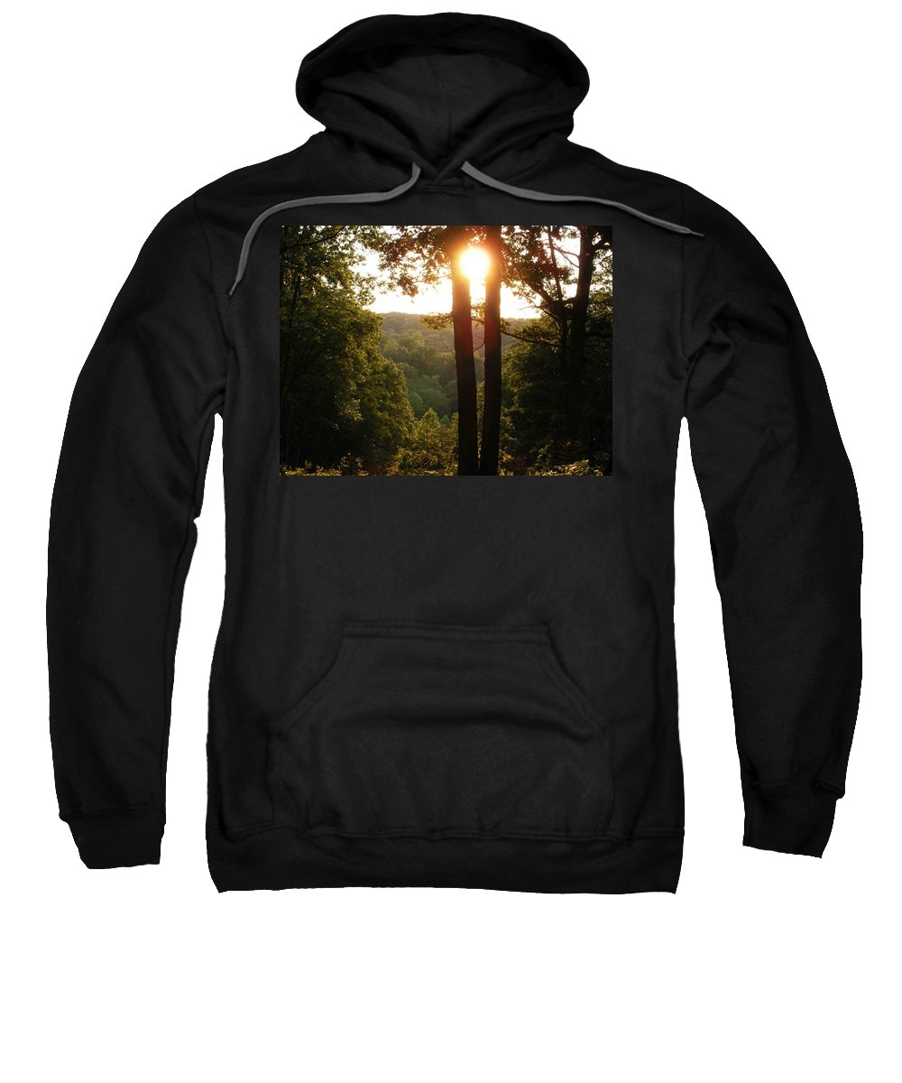 Sunset Sweatshirt featuring the photograph Sunset On The Trace by Nelson Strong