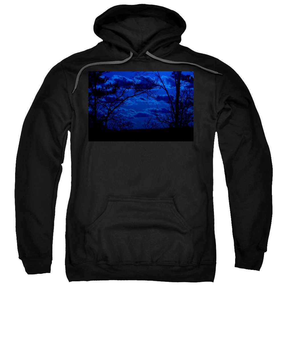 Night Sweatshirt featuring the photograph sunset over Suwanee 2009 by David Campbell