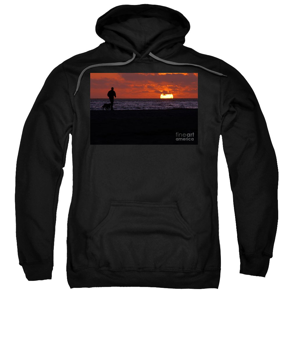 Clay Sweatshirt featuring the photograph Sunset Run by Clayton Bruster