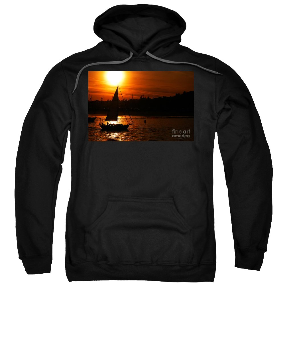 Clay Sweatshirt featuring the photograph Sunset Sailing by Clayton Bruster