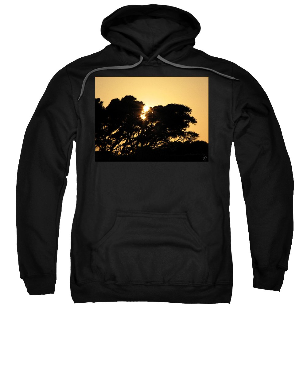 Tree Sweatshirt featuring the digital art Sunset Silhouette II by Stacey May